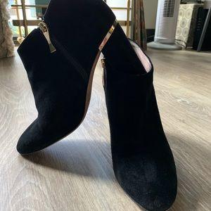 Kate spade darota suede ankle booties